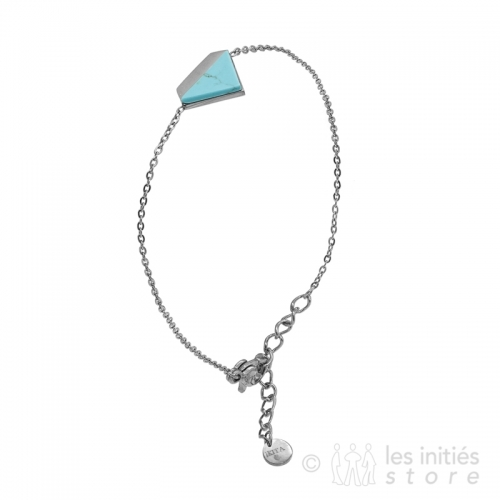 bracelet triangle pierre turquoise