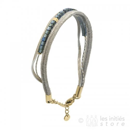 bracelet pierres ethniques bleues