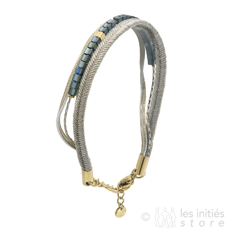 several bead rows bracelet