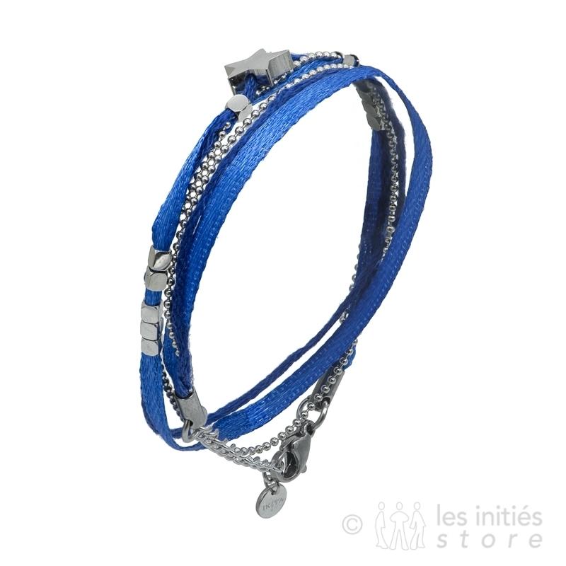 bracelet pierres bleues et étoile