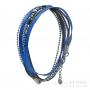 bracelet plusieurs rangs bleu