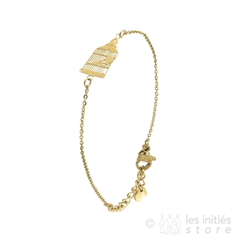 small cage bracelet gold