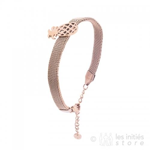 Bracelet ananas rosé