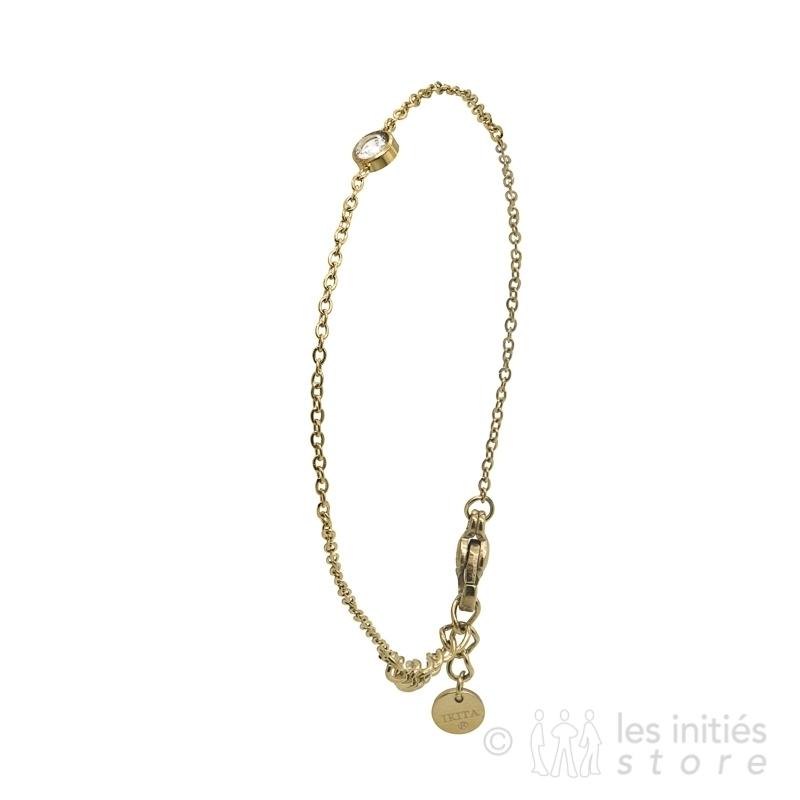 fine crystal bracelet gold