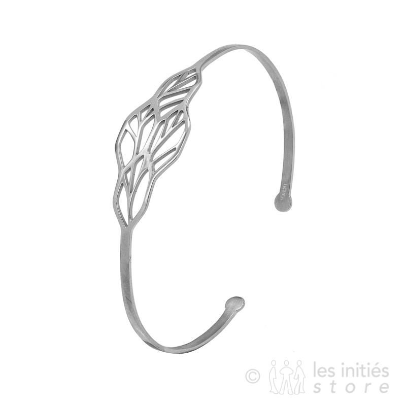 geometrical braceley silver