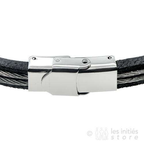 fermoir bracelet câble acier
