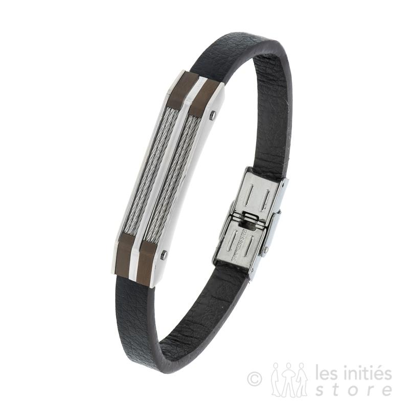 Bracelet homme art mécanique marron