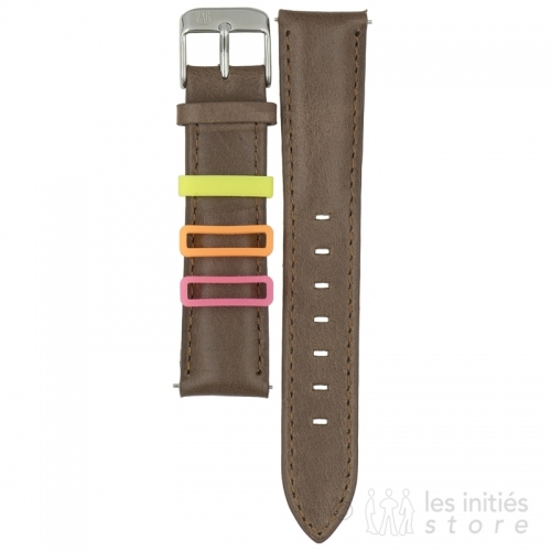 leather front and back wristwatch strap