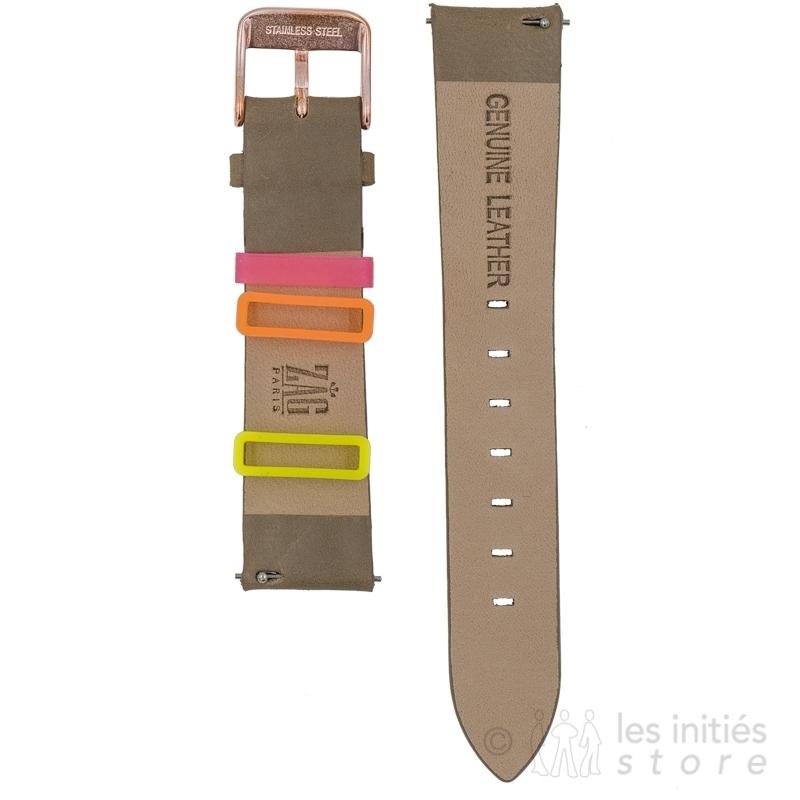 Bracelet montre avec choix de passants offerts