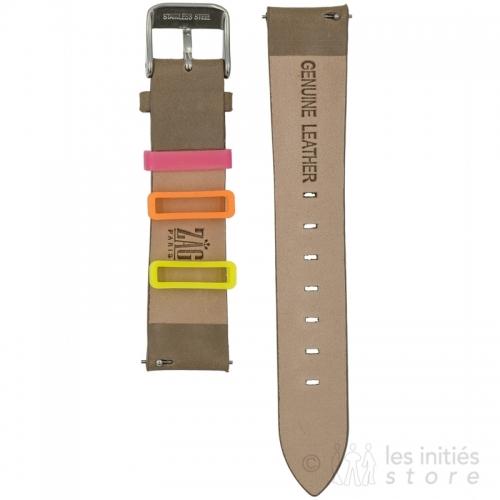 Bracelet montre à clips rapides