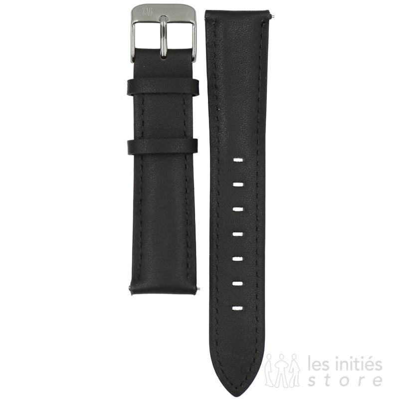 Bracelet cuir surpiqué pour montre