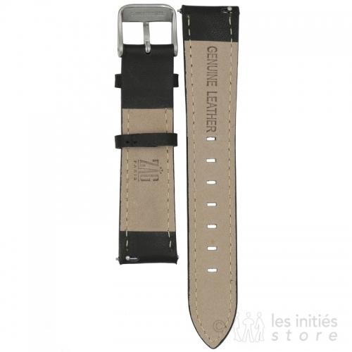 stitched leather watch bracelet