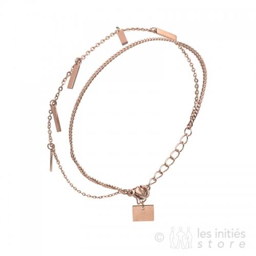 2 chains bracelet