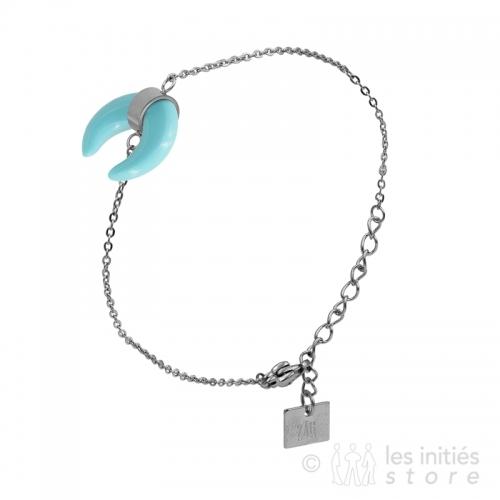 turquoise horn bracelet
