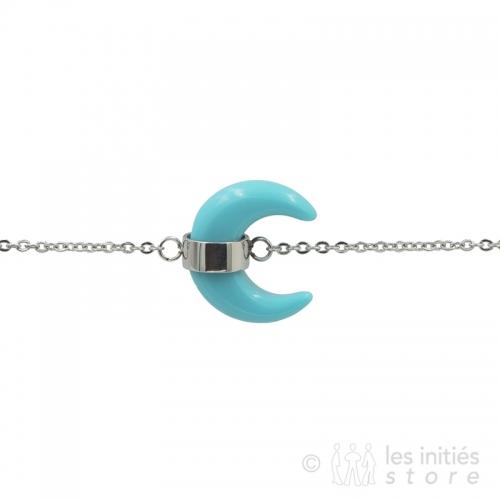 Bracelet lune turquoise