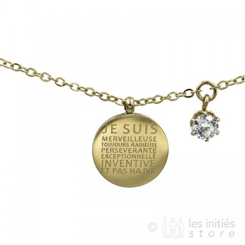 Médaille originale sur bracelet Zag Bijoux