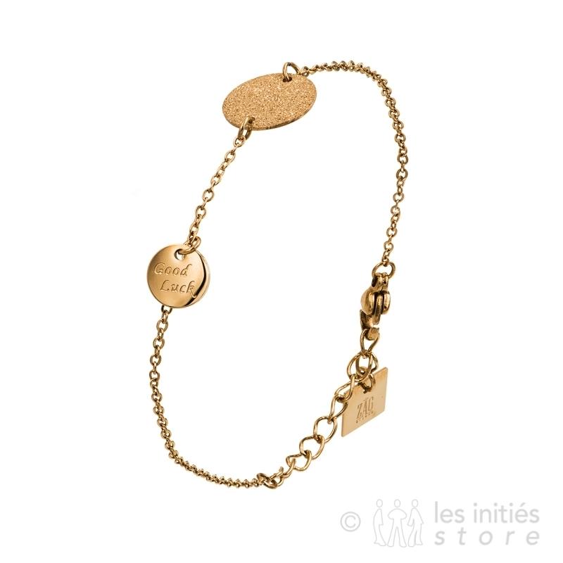 Bracelet médailles rosé