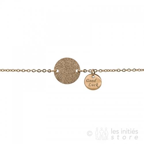Bracelet Zag Bijoux rosé écritures