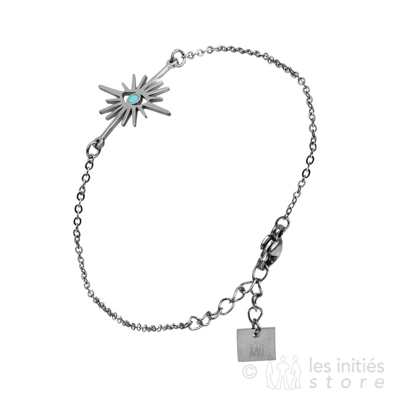 Bracelet Zag Bijoux étoile tirquoise