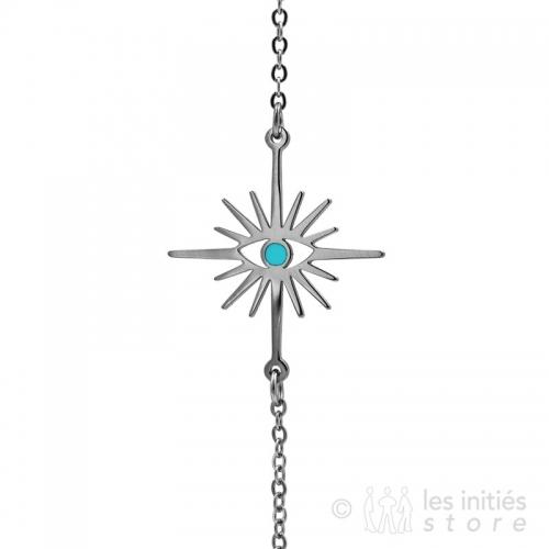 turquoise star eye bracelet