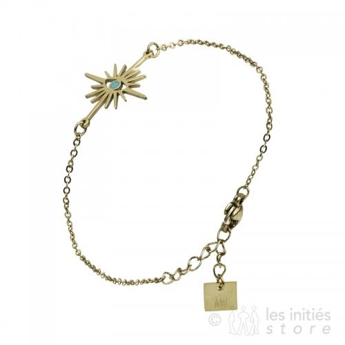 eye bracelet gold