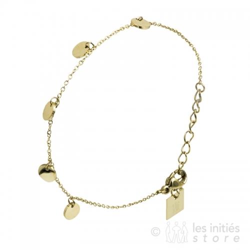 Bracelet petites médailles dorées