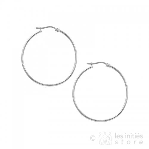 4 cm hoop earrings silver