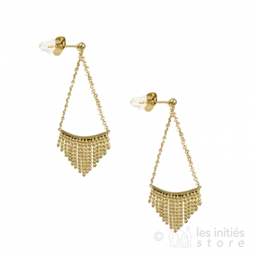 annalergic fringe pendant earrings gold