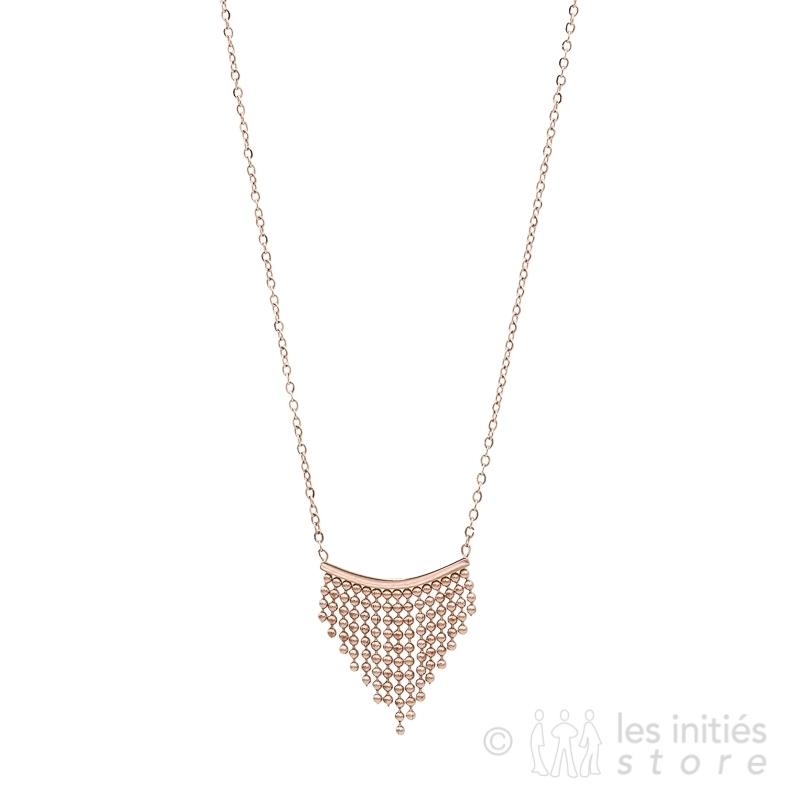pink chain fringe