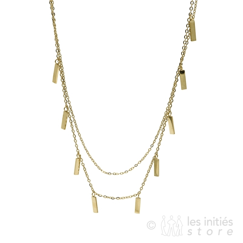 multiple small rectangles necklace