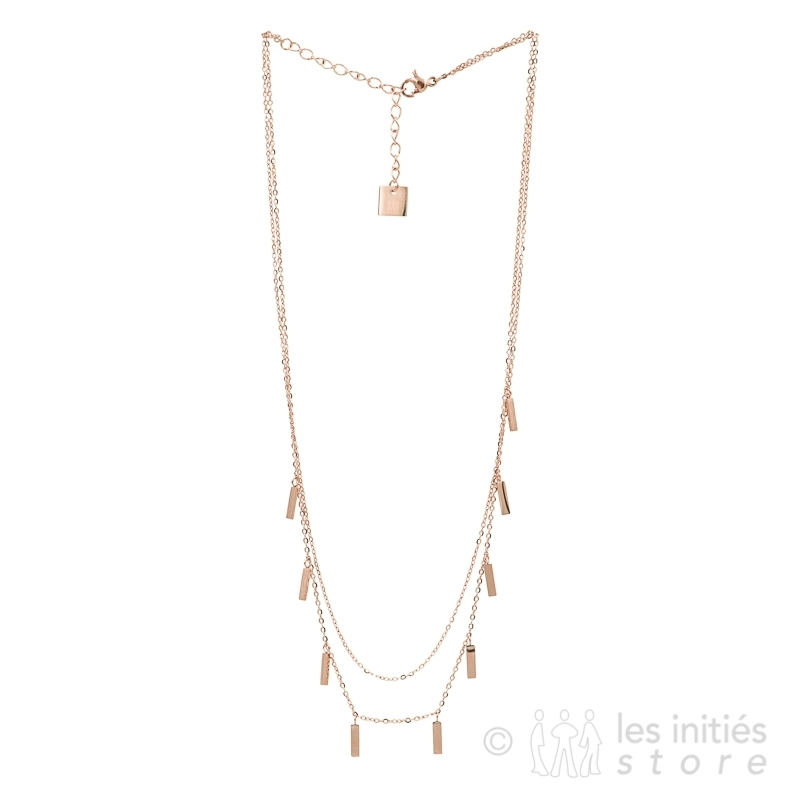 new rose gold necklace
