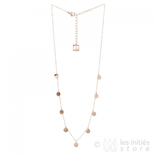 gypsy pink gold necklace