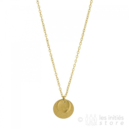 Médaille sur collier Zag Bijoux