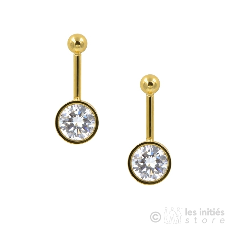Boucles d'oreilles diamant serti