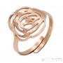 Pink filigree ring