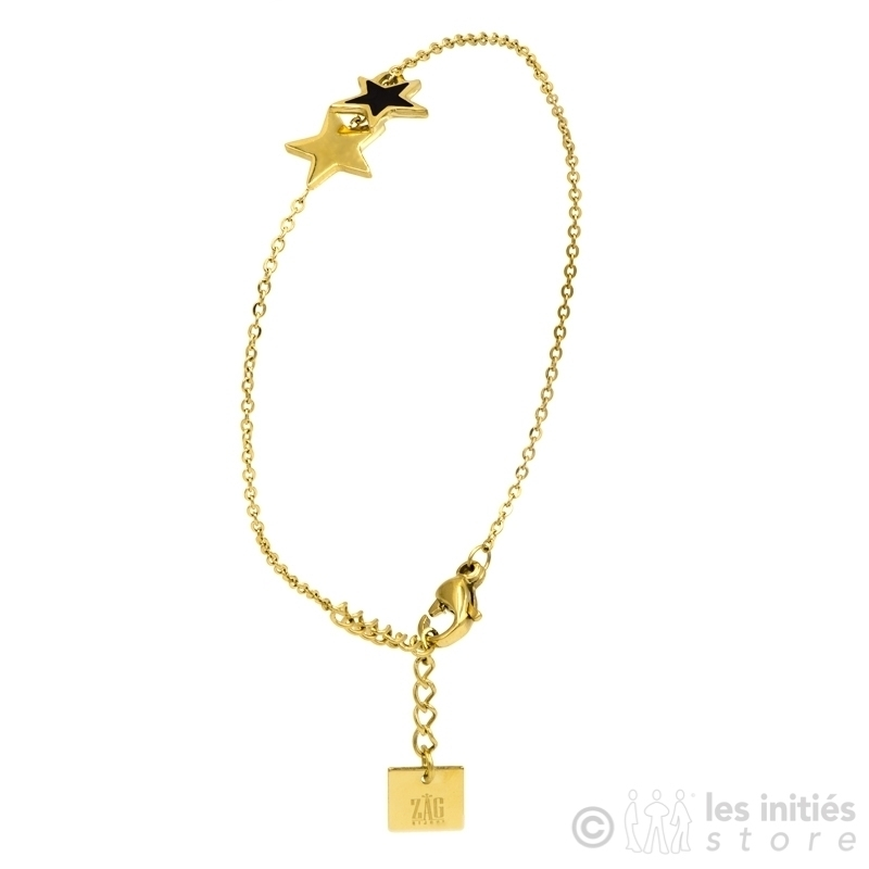 Bracelet Zag étoiles émail