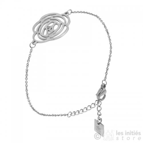 Bracelet rose ajourée annalergique