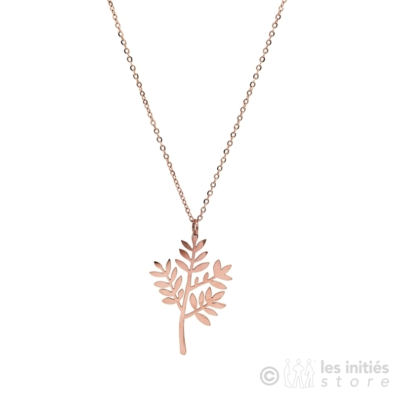 beautiful french leave necklace