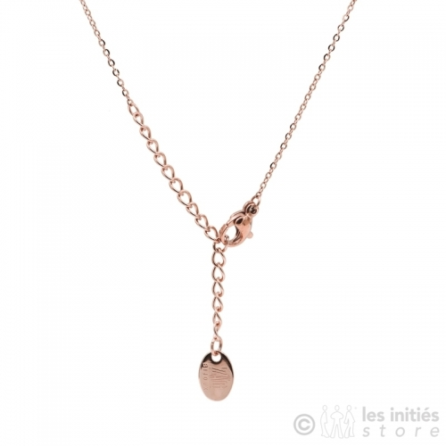pink gold necklace