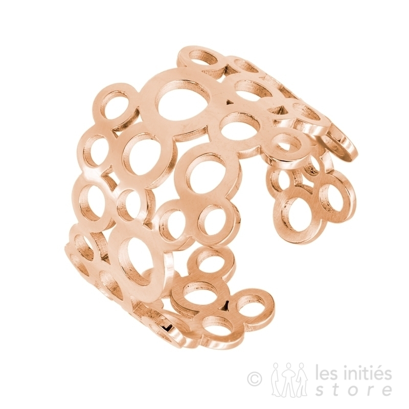 ilttle circles ring - rose gold