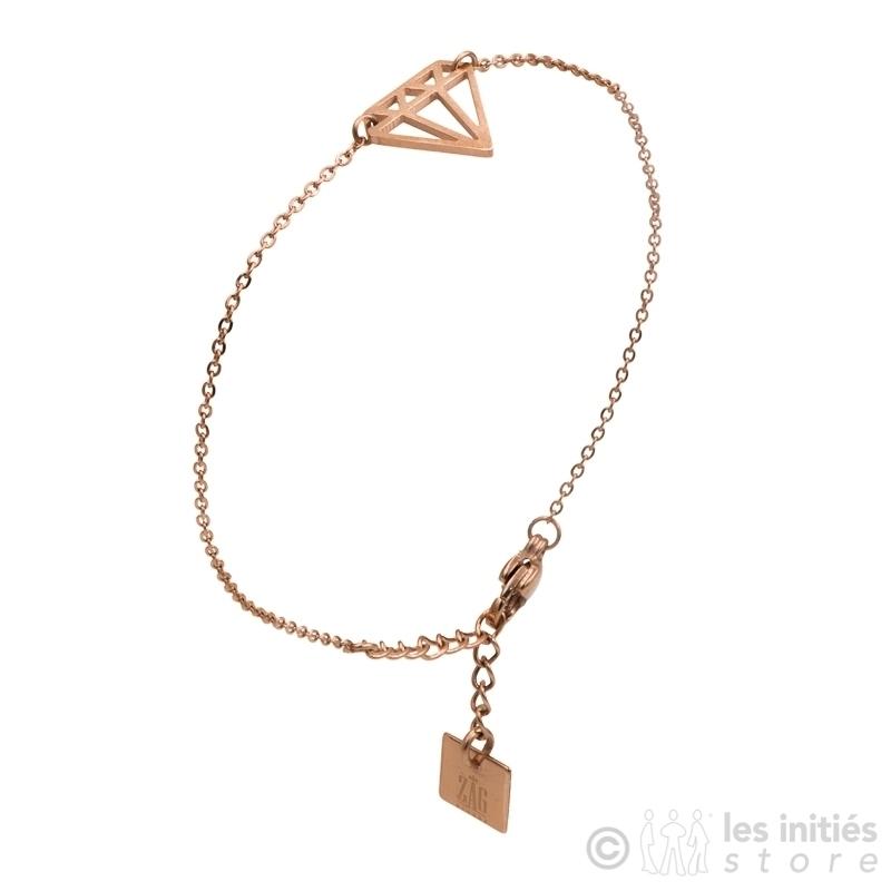 Bracelet ZAG  diamant rosé anti-allergique