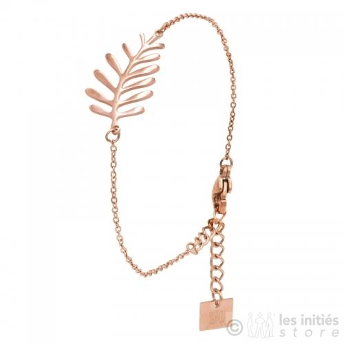 Bracelet Zag palmier rosé