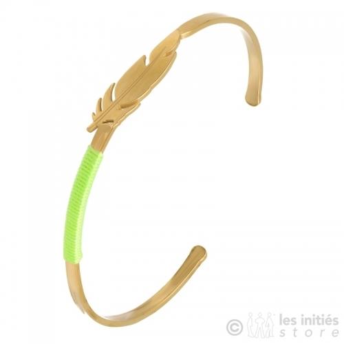 Bracelet plume relief