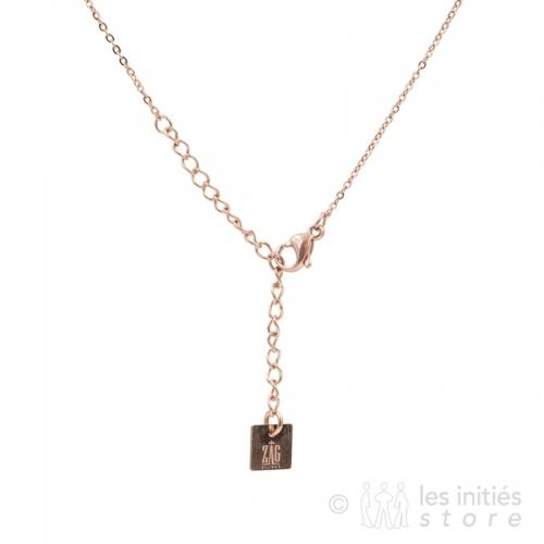 Collier pendentif symbole rosé