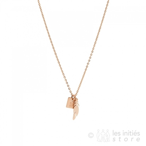 Collier petite plume indienne