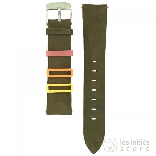 Bracelet montre vert chasseur