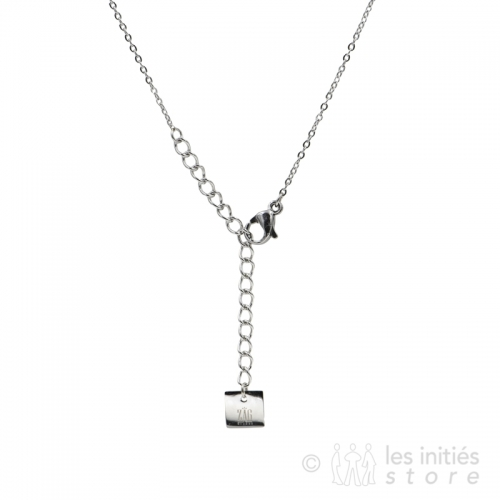 attache collier strass acier