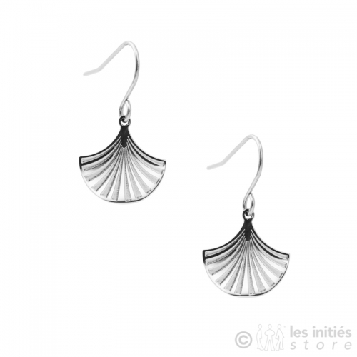 holy scallop shell earrings