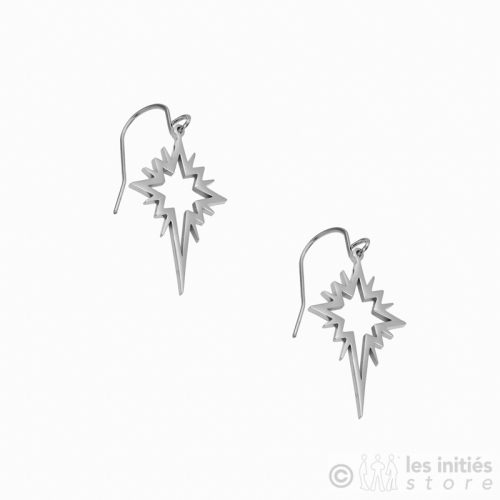 god quality star earrings