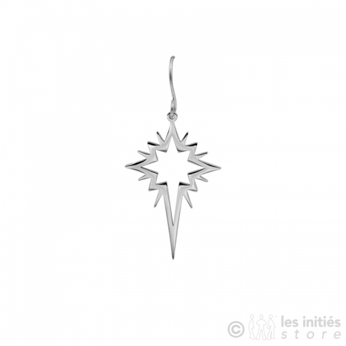 trendy polar star earrings